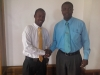 Mr. Omar Newell (l) and Mr. Omar Marston (r) at the St. Mary Students' Council Forum 2013